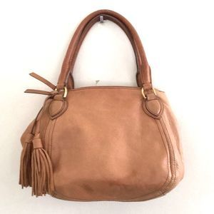 J. Crew leather handbag pre-owned Classic mid size